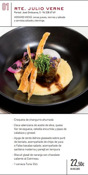 Los restaurantes m s innovadores se unen en turia gastro - Restaurante julio verne ...