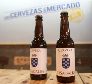 La cerveza artesana Casa de Alba se puede degustar en exclusiva en Las Cervezas del Mercado