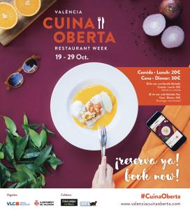 58 de los mejores restaurantes de Valencia participan en esta nueva edición otoñal de Valencia Cuina Oberta.