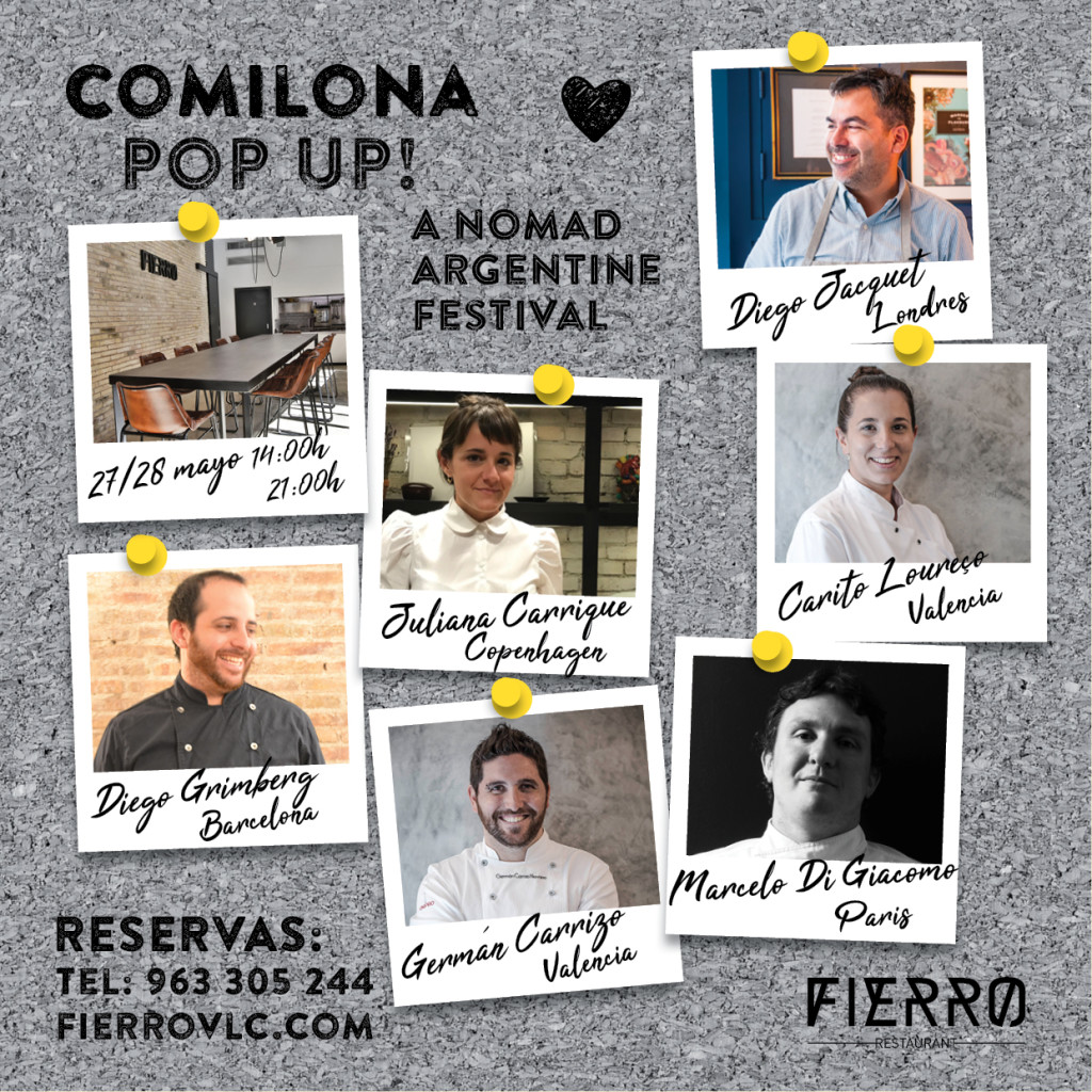 Comilona Pop Up en el restaurante Fierro.